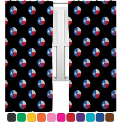 Texas Polka Dots Curtains (2 Panels Per Set) (Personalized)