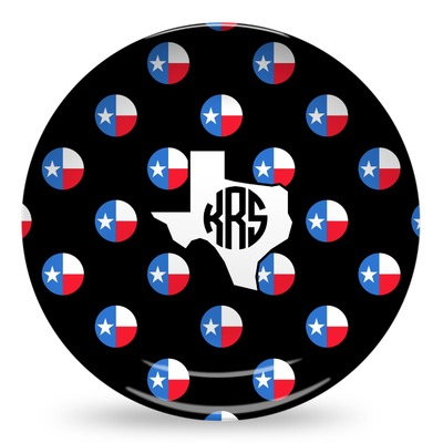 Texas Polka Dots Microwave Safe Plastic Plate - Composite Polymer (Personalized)