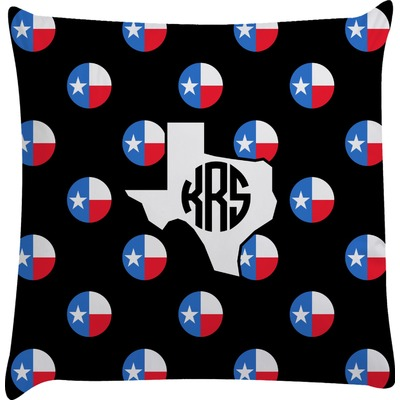 Texas Polka Dots Decorative Pillow Case (Personalized)