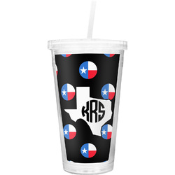 Texas Polka Dots Double Wall Tumbler with Straw (Personalized)