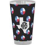 Texas Polka Dots Drinking / Pint Glass (Personalized)