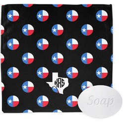 Texas Polka Dots Wash Cloth (Personalized)