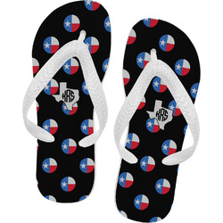 Texas Polka Dots Flip Flops - Large (Personalized)