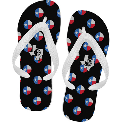 Texas Polka Dots Flip Flops - Small (Personalized)