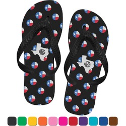Texas Polka Dots Flip Flops (Personalized)