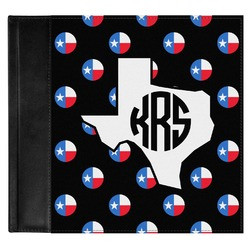 Texas Polka Dots Genuine Leather Baby Memory Book (Personalized)