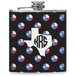 Texas Polka Dots Genuine Leather Flask (Personalized)