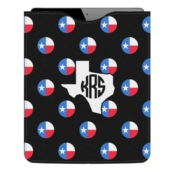 Texas Polka Dots Genuine Leather iPad Sleeve (Personalized)