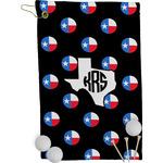 Texas Polka Dots Golf Towel - Full Print (Personalized)