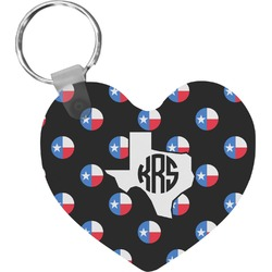 Texas Polka Dots Heart Keychain (Personalized)