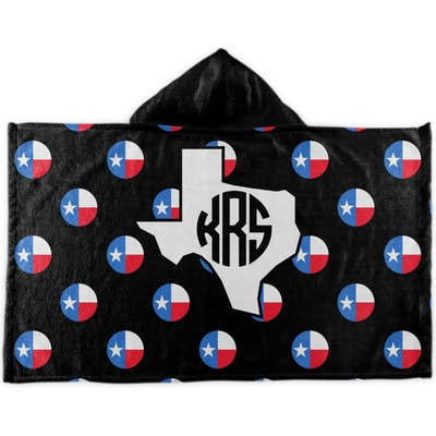 Texas Polka Dots Kids Hooded Towel (Personalized)