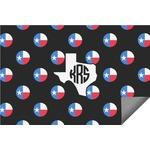 Texas Polka Dots Indoor / Outdoor Rug (Personalized)