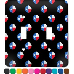 Texas Polka Dots Light Switch Cover (2 Toggle Plate) (Personalized)
