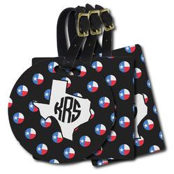 Texas Polka Dots Plastic Luggage Tags (Personalized)