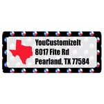 Texas Polka Dots Return Address Labels (Personalized)