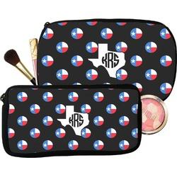 Texas Polka Dots Makeup / Cosmetic Bag (Personalized)