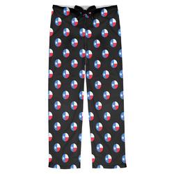 Texas Polka Dots Mens Pajama Pants (Personalized)
