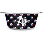 Texas Polka Dots Stainless Steel Dog Bowl (Personalized)
