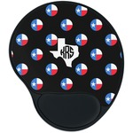 Texas Polka Dots Mouse Pad with Wrist Support