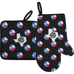 Texas Polka Dots Oven Mitt & Pot Holder (Personalized)