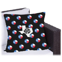 """Texas Polka Dots Outdoor Pillow - 20"""" (Personalized)"""