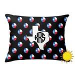 Texas Polka Dots Outdoor Throw Pillow (Rectangular) (Personalized)