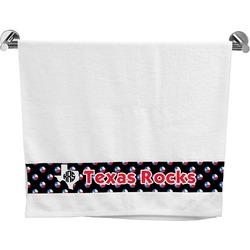 Texas Polka Dots Bath Towel (Personalized)