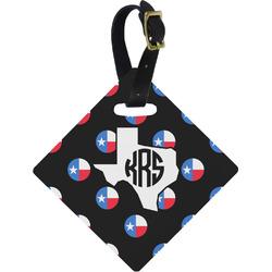 Texas Polka Dots Diamond Luggage Tag (Personalized)