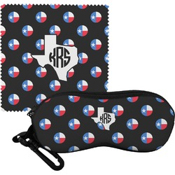 Texas Polka Dots Eyeglass Case & Cloth (Personalized)
