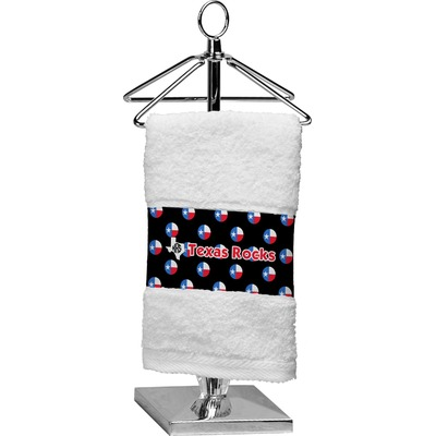 Texas Polka Dots Finger Tip Towel (Personalized)