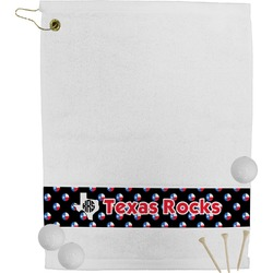 Texas Polka Dots Golf Towel (Personalized)