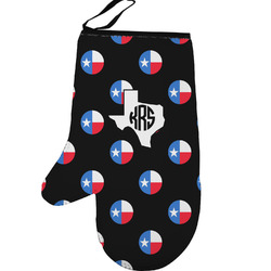 Texas Polka Dots Left Oven Mitt (Personalized)