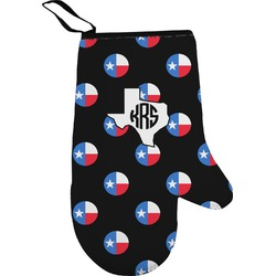 Texas Polka Dots Right Oven Mitt (Personalized)