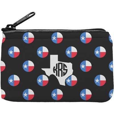Texas Polka Dots Rectangular Coin Purse (Personalized)