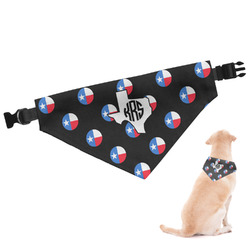 Texas Polka Dots Dog Bandana - Large (Personalized)