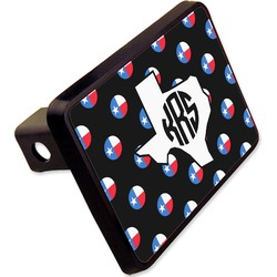 "Texas Polka Dots Rectangular Trailer Hitch Cover - 2"" (Personalized)"
