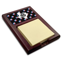 Texas Polka Dots Red Mahogany Sticky Note Holder (Personalized)