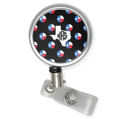 Texas Polka Dots Retractable Badge Reel (Personalized)
