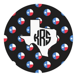 Texas Polka Dots Round Decal - Custom Size (Personalized)