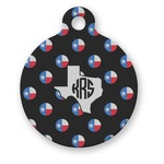 Texas Polka Dots Round Pet Tag (Personalized)