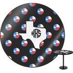 Texas Polka Dots Round Table (Personalized)