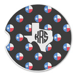 Texas Polka Dots Sandstone Car Coasters (Personalized)