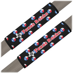 Texas Polka Dots Seat Belt Covers (Set of 2) (Personalized)