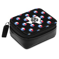 Texas Polka Dots Small Leatherette Travel Pill Case (Personalized)