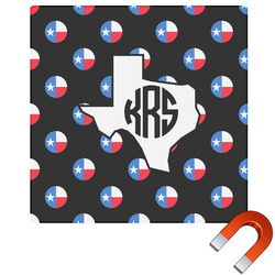 Texas Polka Dots Square Car Magnet (Personalized)