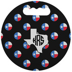 Texas Polka Dots Stadium Cushion (Round) (Personalized)