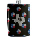 Texas Polka Dots Stainless Steel Flask (Personalized)