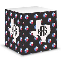 Texas Polka Dots Sticky Note Cube (Personalized)