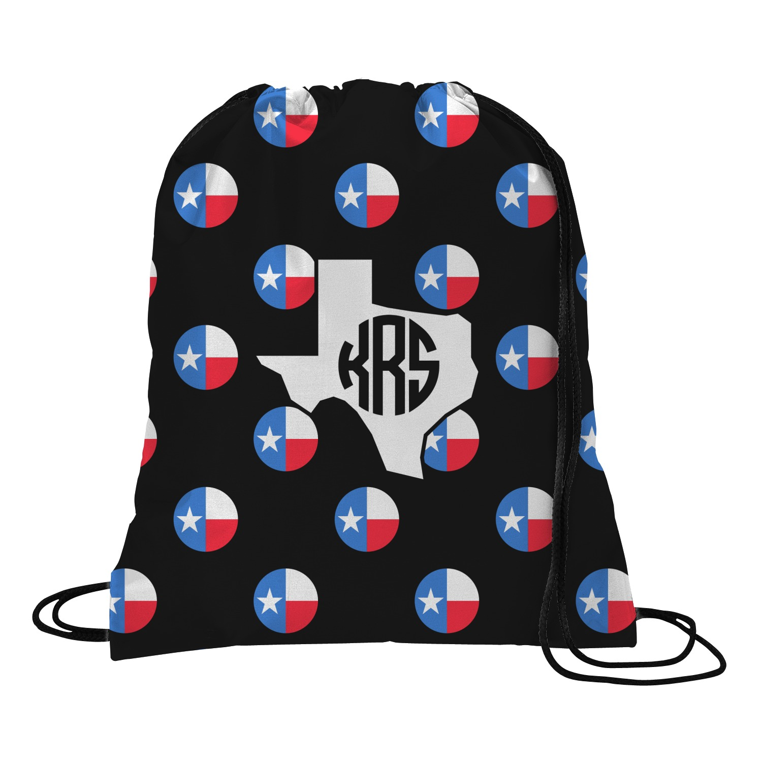 d1a5a7b07a6b Texas Polka Dots Drawstring Backpack (Personalized) - YouCustomizeIt