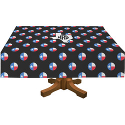 Texas Polka Dots Rectangle Tablecloth (Personalized)